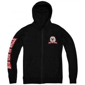 Cobra Kai Eagle Fang Karate Black Zip Up Pullover Hoodie