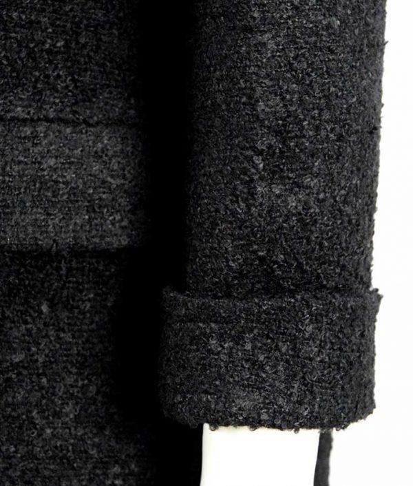 Millie Bobby Brown Black Coat