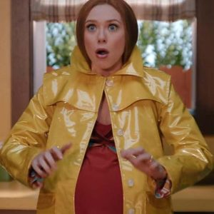 Wanda Maximoff WandaVision Coat Elizabeth Olsen Yellow Coat