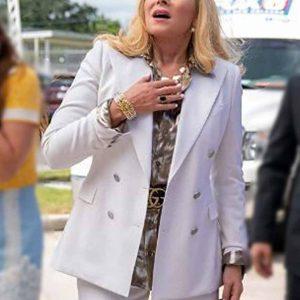 Kim Cattrall TV Series Filthy Rich Margaret Monreaux White Blazer Coat