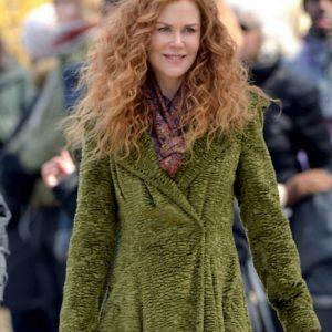 Nicole Kidman The Undoing Grace Sachs Long Green Coat