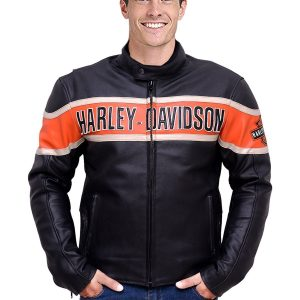 Harley Davidson Mens Victory Lane Leather Jacket