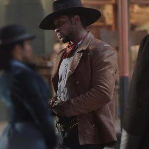Idris Elba The Harder They Fall 2021 Jacket   Idris Elba Brown Jacket