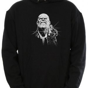 Men's Avengers Infinity War Thanos Fierce Face Black Pullover Hoodie