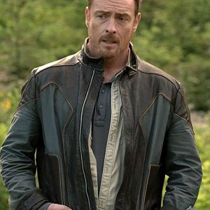 John Robinson Lost In Space Toby Stephens Leather Jacket