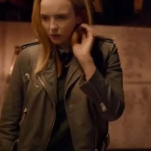 Jodie Comer TV Series Killing Eve S04 Brown Motorcycle Villanelle Leather Jacket