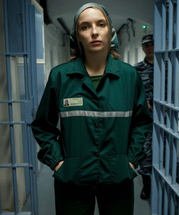 Jodie Comer Tv Series Killing Eve Villanelle Green Cotton Jacket