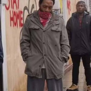 Paxton Locked Down Jacket | Chiwetel Ejiofor Grey Jacket