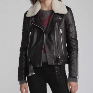 Zoe Chao Love Life Sara Yang Black Motorcycle Leather Jacket