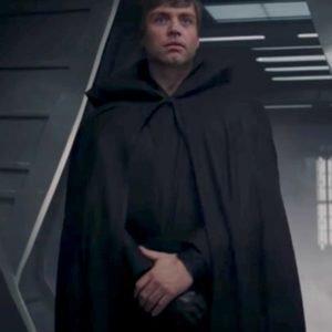 Mark Hamill The Mandalorian Luke Skywalker Black Cloak Coat with Hood