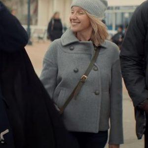 Ludivine Sagnier TV Series Lupin Claire Grey Coat