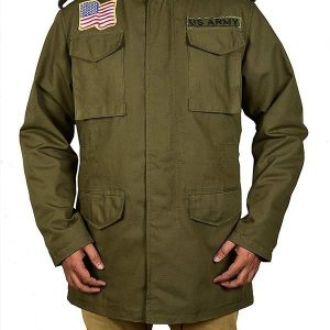 Mortal Kombat 11 John Rambo Green Cotton Jacket