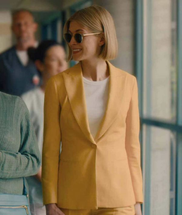 I Care a Lot Marla Grayson Yellow Blazer   Rosamund Pike Blazer