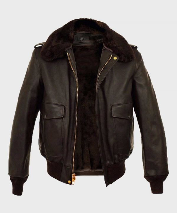 Mens A2 Brown Bomber Jacket