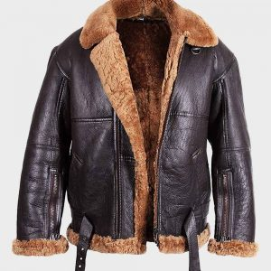 Mens Flying Aviator B3 Sheepskin Shearling Jacket | 100% Real Leather