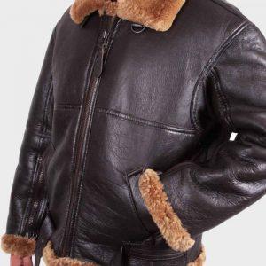 Mens Flying Aviator B3 Sheepskin Shearling Jacket