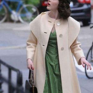 The Marvelous Mrs. Maisel Rachel Brosnahan Beige Coat Miriam Maisel Coat