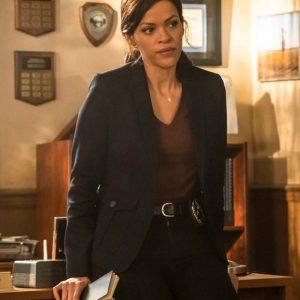 Detective Karen Hart Tv Series Nancy Drew Alvina August Black Blazer Coat
