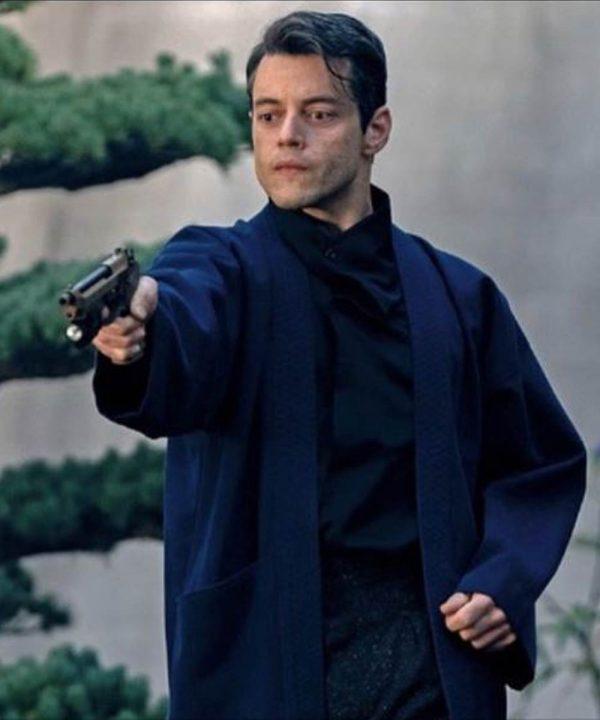 Safin Blue Coat | No Time to Die Rami Malek Coat