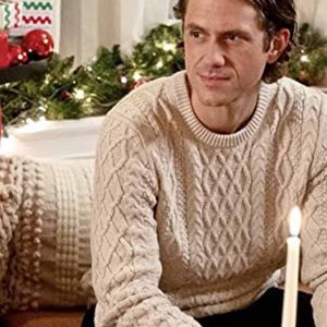 Aaron Tveit White Sweater