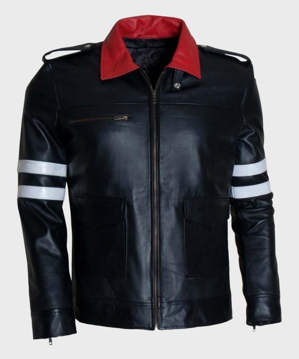 Peter Prototype Black Leather Jacket | Peter Prototype Biker Jacket