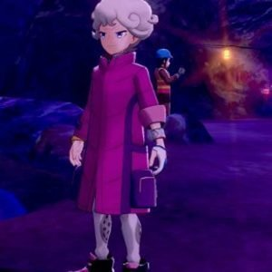 Pokemon Sword and Shield Bede Cosplay Pink Long Jacket