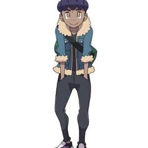 Pokemon Sword and Shield Hop Blue Shearling Trim Jacket