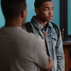 Michael Rainey Jr Power Book II Ghost S01 Tariq St Patrick Blue Denim Jacket