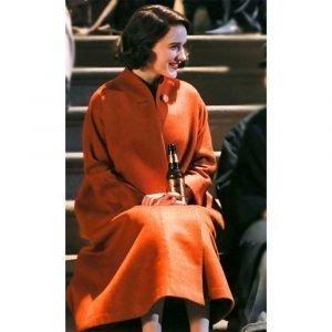 The Marvelous Mrs. Maisel Rachel Brosnahan Orange Coat