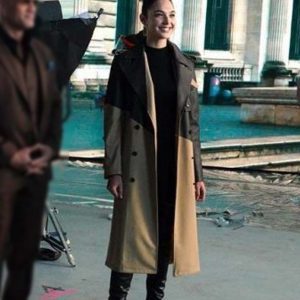 Red Notice 2021 Gal Gadot Double-Breasted Trench Coat