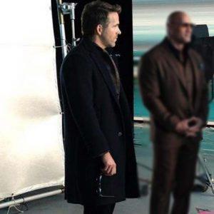 Ryan Reynolds Red Notice 2021 Black Wool-blend Coat