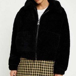 Toni Topaz TV Series Riverdale S05 Vanessa Morgan Black Cropped Jacket