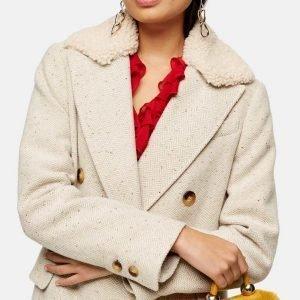 Zoe Chao Love Life Sara Yang Coat Sara Ivory Herringbone Coat