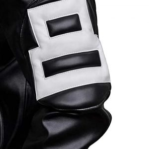 8 Ball Style Black Bomber Leather Jacket