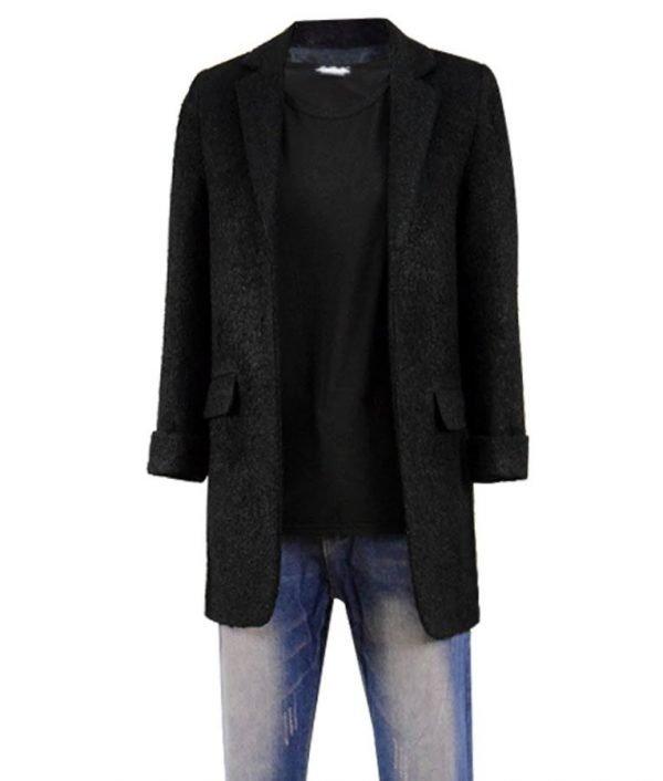Millie Bobby Brown Stranger Things 3 Eleven Black Coat