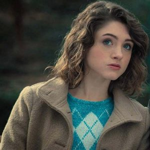 Natalia Dyer Brown Coat