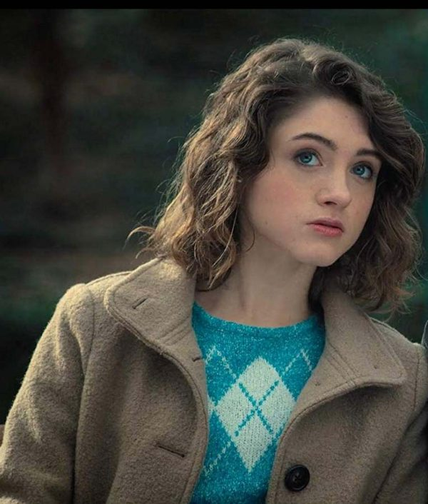 Natalia Dyer Brown Coat