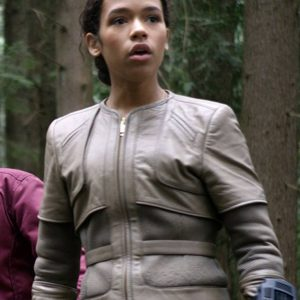 Taylor Russell TV-Series Lost In Space Judy Robinson Leather Jacket
