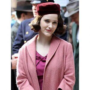 Rachel Brosnahan The Marvelous Mrs. Maisel Pink Coat