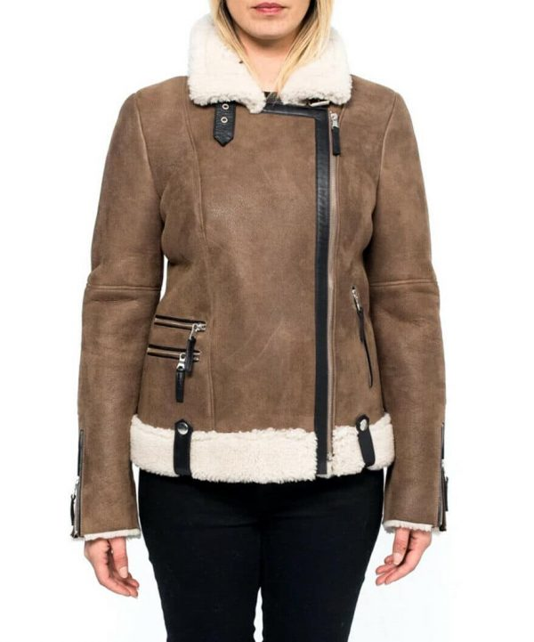 Alexandra Breckenridge Virgin River Melinda Monroe Brown Leather Jacket