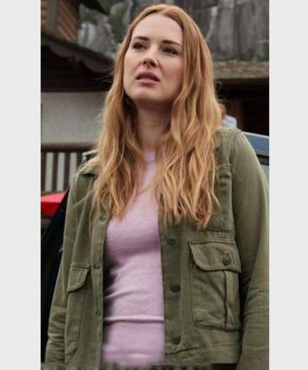 Alexandra Breckenridge TV Series Virgin River S02 Melinda Monroe Green Jacket