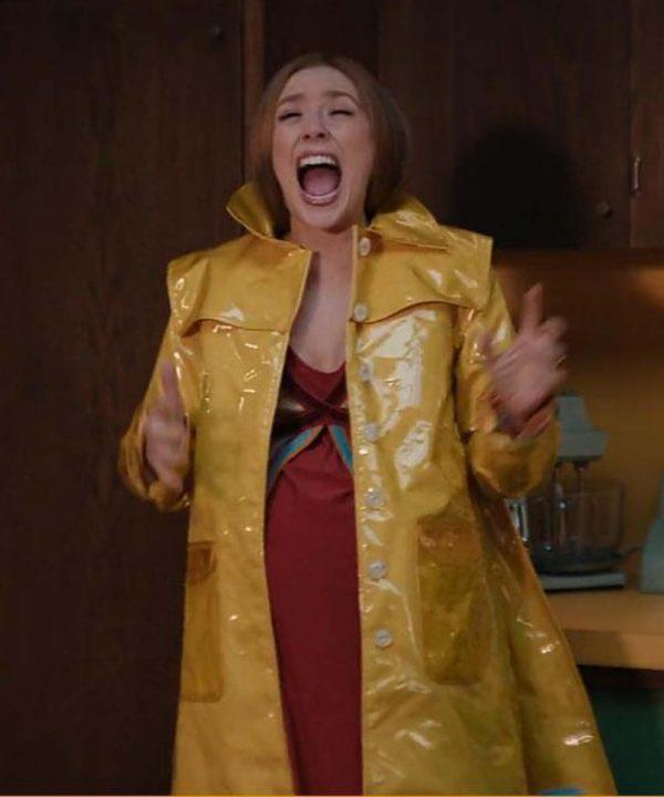 Elizabeth Olsen TV Series WandaVision 2021 Wanda Maximoff Yellow Coat