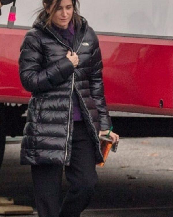 WandaVision Kathryn Hahn Black Puffer Jacket With Hood
