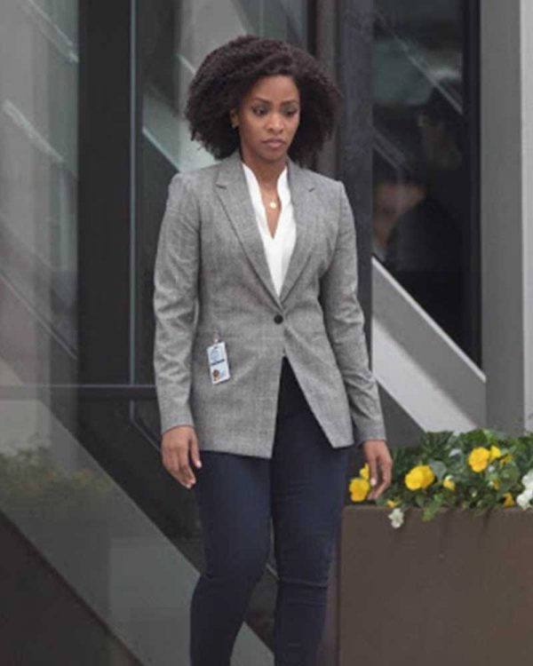 Teyonah Parris WandaVision Monica Rambeau Grey Blazer Jacket
