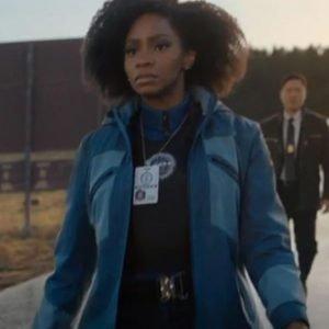 Monica Rambeau WandaVision Teyonah Parris Blue Jacket with Hood