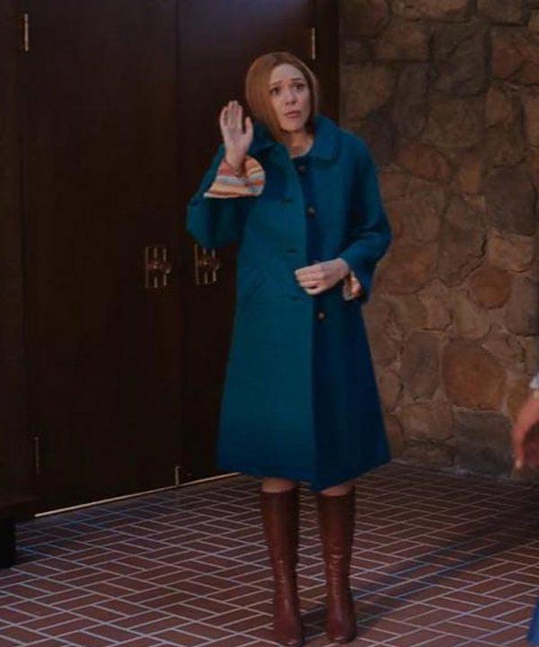 Tv Series WandaVision Wanda Maximoff Blue Coat