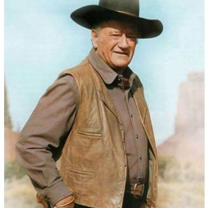 The Cowboys John Wayne Leather Vest
