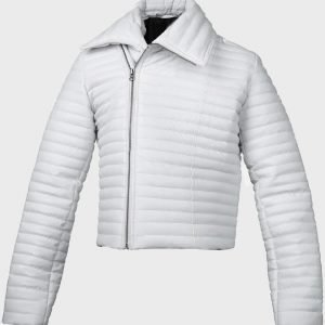 Woman-Classic-White-Puffer-Leather-Jacket-