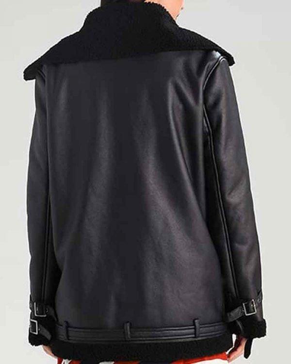 Womens ShearAsymmetrical Black Jacket