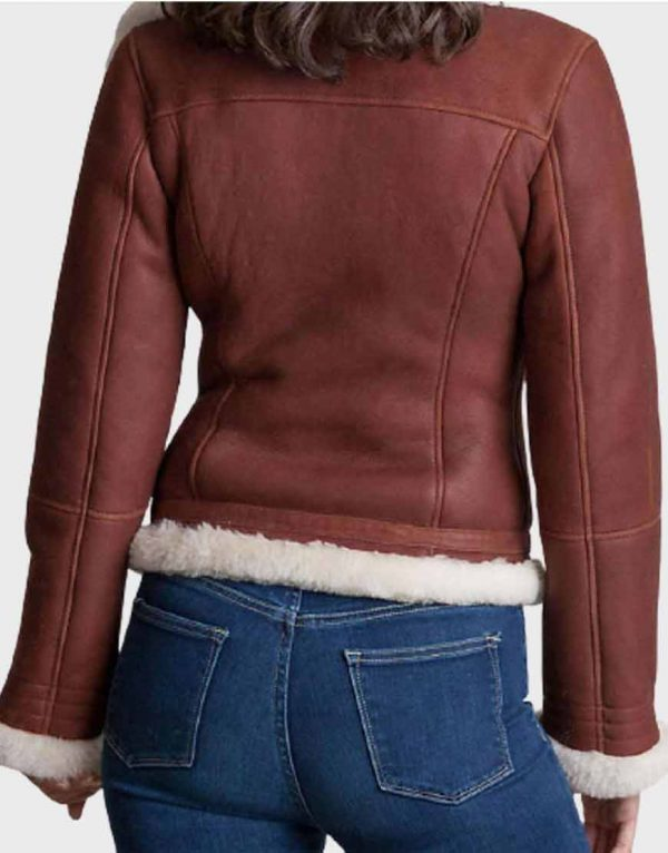 Women's Brown Sheepskin Shearling Jacket